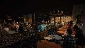 Fortress Melbourne bar and console gaming area